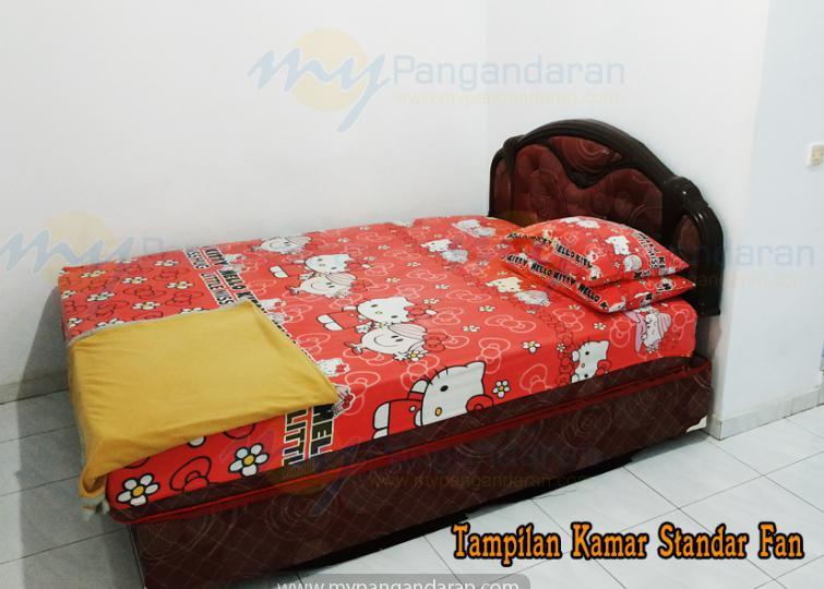 Tampilan Kamar Standar Fan Single Bed